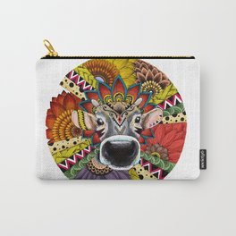 TRIBAL COW Carry-All Pouch