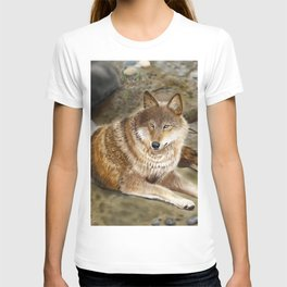 Wolf by the Riverbed T-shirt
