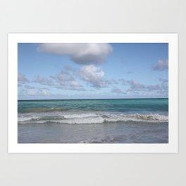 Beach in Hawaii 2 Art Print