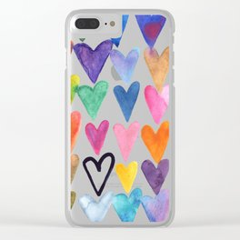 Hearts No. 1 Clear iPhone Case