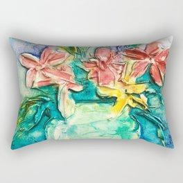 color flower vase Rectangular Pillow