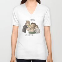 zayn V-neck T-shirts featuring Goodbye Zayn by Aki-anyway