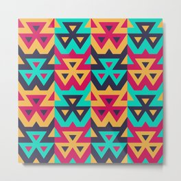 Seamless Modern Triangle Pattern. Vector Background for Textile Design. Geometric Abstract Texture Metal Print