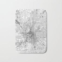 Indianapolis White Map Bath Mat