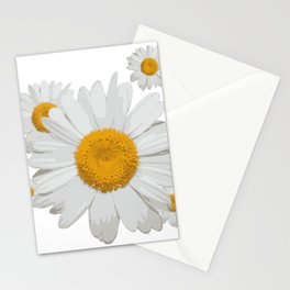 Daisy flower minimal white cute Stationery Cards