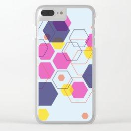 Hexagon Wonderland Clear iPhone Case