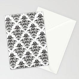 Damask Pattern | Black and White Stationery Cards