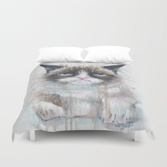 Grumpy Kitty Cat Duvet Cover