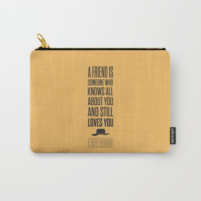 Lab No. 4 - Elbert Hubbard American Writer Motivational Typography Quotes Poster Carry-All Pouch