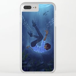 the sea's person Clear iPhone Case