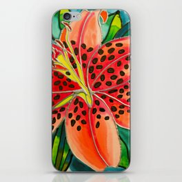 Pink Lily in Belize iPhone Skin