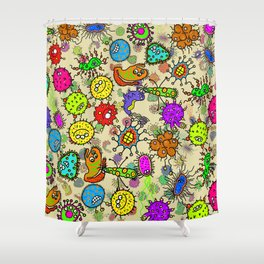 Doodle Germs Shower Curtain