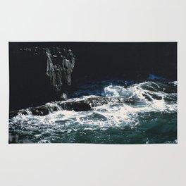 Dark Oceanic Cliff Rug