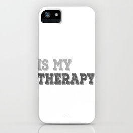 MMA Therapy iPhone Case