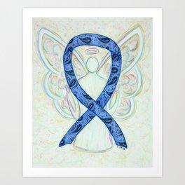 Paisley Thyroid Disease Awareness Ribbon Angel Art Art Print
