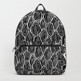 Vagina - Rama, Black with white outlines Backpack