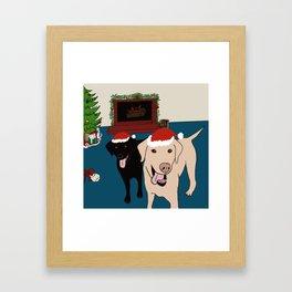 Labs Love Christmas! Framed Art Print