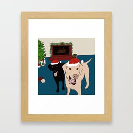 Labs Love Christmas! Framed Art Print