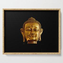 Golden Buddha by Lika Ramati Serving Tray