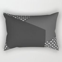 Grey abstract abstract Rectangular Pillow