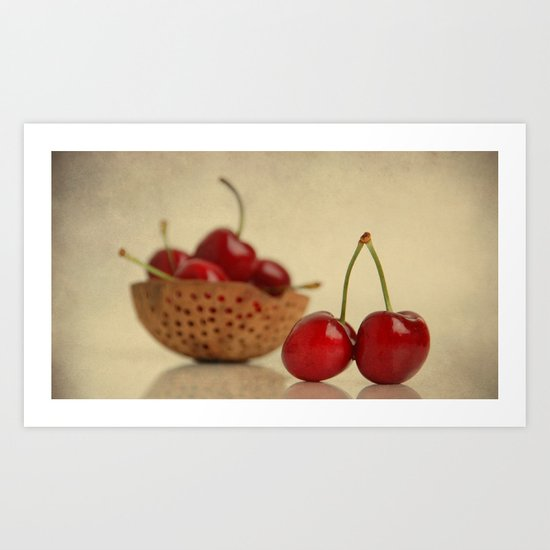 Love Cherries Art Print