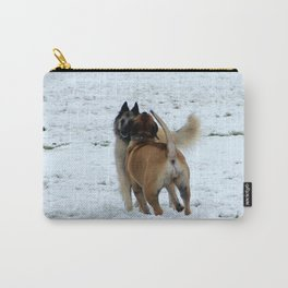 Dogs playing in the snow Carry-All Pouch