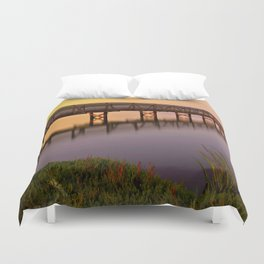 Bolsa Chica Wetlands Sunset Duvet Cover