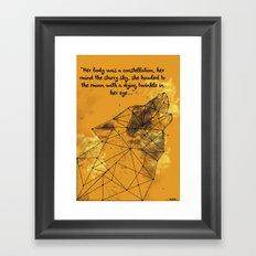 Constellation Wolf Framed Art Print