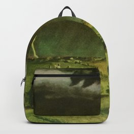 The Line Storm - Thunder and Lightning on the American Plains by John Steuart Curry Backpack