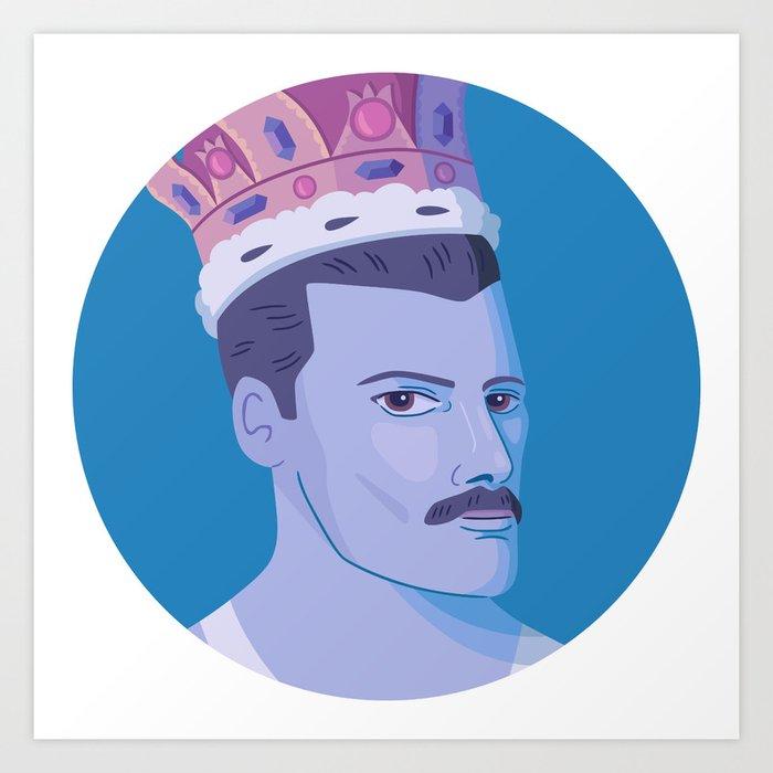 Queer Portrait - Freddie Mercury Art Print