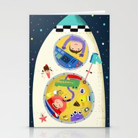 spaceship Stationery Cards featuring Spaceship  by ilana exelby