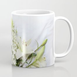 Green and Cream Flowers Coffee Mug