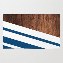 Wood of blue Rug