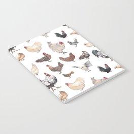 Chicken Happy (white) Notebook