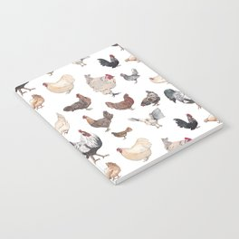 Chicken Happy (white) Notebook