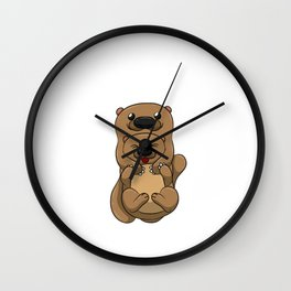 My Significant Otter Shirt Lovely Valentine Partnerlook Tee Wall Clock
