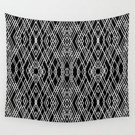 Art Deco Black and White Wall Tapestry