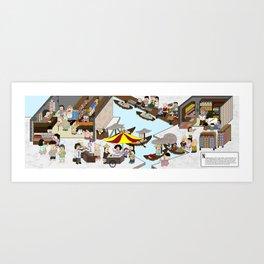Provision Shop Art Print