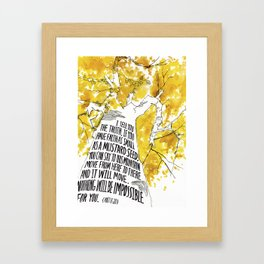 Mustard Seed Faith Tree - Matthew 17:20 Framed Art Print