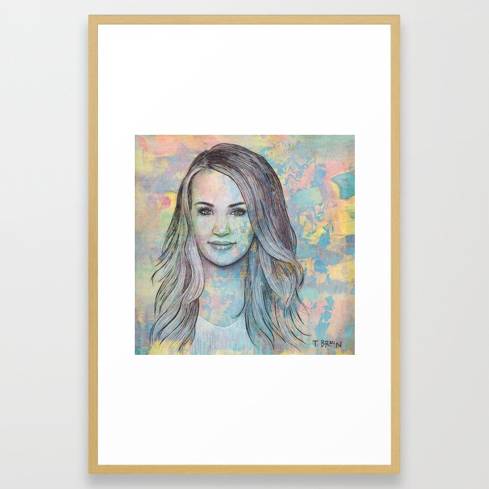 Carrie Underwood - All-American Girl Framed Art Print