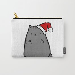 Christmas Cat Double Bird Carry-All Pouch