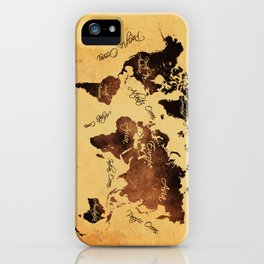 world map 75 iPhone Case