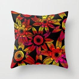 Big Floral 1 Throw Pillow