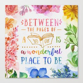 Between the pages Canvas Print