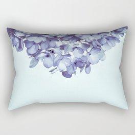 Floral fringe - french blue Rectangular Pillow