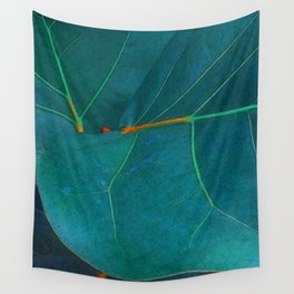 Two Sea Grape Leaves Wall Tapestry