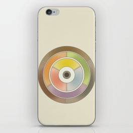 The theory of colouring - Diagram of colour by J. Bacon, 1866, Remake, vintage wash (no text) iPhone Skin