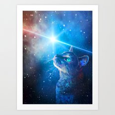 Sir Parkers Voyage into Space Art Print