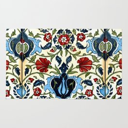 Tile with Carnations Rug