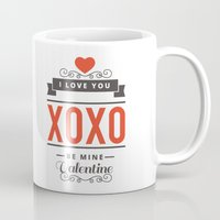 valentines Mugs featuring Valentines Day by cat&wolf